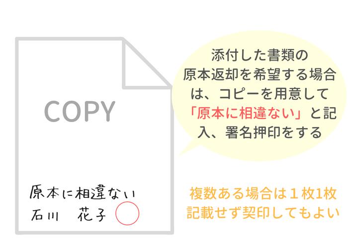 添付書面の原本還付の方法
